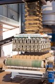 Brick compression forming — Stock Photo