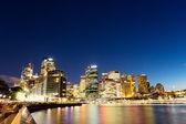 Cityscape of sydney at nightfall — Stock Photo