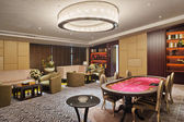 Modern Room for recreation, with poker table — Stock Photo