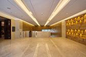 Moderne kantoor, gang met hoge kwaliteitsolie decoratie — Stockfoto