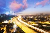 Verkeersinfo verlichting trail — Stockfoto