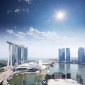 Panoráma singapuru ve dne — Stock fotografie