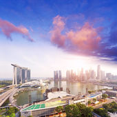Cityscape of singapore in the daytime — Stock Photo