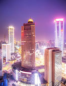 Prosperous urban cityscape in the night — Stock Photo