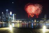 Prosperous urban cityscape at night — Stock Photo