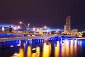 Prosperous modern city at night  — Stock Photo