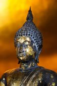 Ancient buddha sculpture detail — Stock Photo