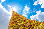 The top of  buddism temple in thailand — Stock Photo