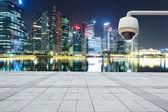 CCTV with prosperous cityscape background — Stock Photo
