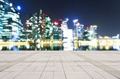 Prosperous modern cityscape at night — Stock Photo