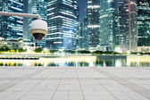 CCTV with prosperous cityscape background — Stock Photo