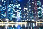 Night cityscape of modern city — Stock Photo