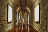 Corridor of wine storage basemen — Stock Photo