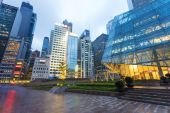Modern office building exterior of urban city — 图库照片