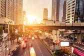 Modern city traffic trails  — Stock Photo