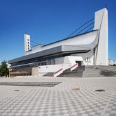 National olympic stadium exterior — Stock Photo