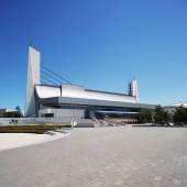 National olympic stadium exterior — Stockfoto