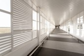 Airport corridor — Stock Photo