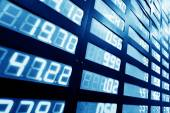 Stock or currency exchange market display screen board — Stock Photo
