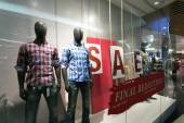 Clothes shop display — Stock Photo