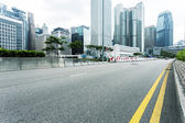 Modern cityscape and road — Stockfoto