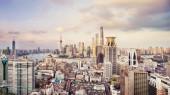 Toits de la ville moderne Shanghai — Photo