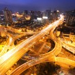 Modern city traffic and skyline at night Shanghai. — Stock Photo #61521941