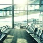 Modern airport waiting hall interior — Stock Photo #61524027