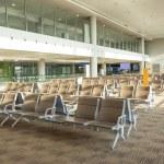 Modern airport waiting hall interior — Stock Photo #62451019