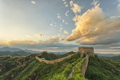 Skyline and great wall — Stock Photo