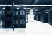 Telecommunication server in data center — Foto Stock