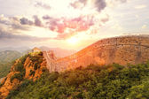 Landmark of china,great wall during sunset — Stock Photo
