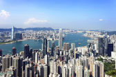 Skyline and cityscape of modern city Hong Kong. — Stock Photo
