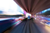 Traffic-light routes op moderne stad — Stockfoto