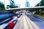 Traffic blur in city — Stock Photo