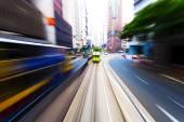 Traffic blur in city — Photo