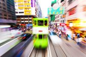 Traffic in modern city — Stock Photo