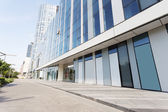 Modern office building exterior and road — Stock Photo