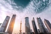 Skyscrapers and landmark in Shanghai — Stock Photo