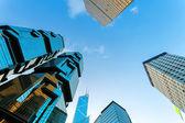 Skyscrapers in modern city — Stock Photo