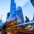 Traffic and office buildings in modern city — Stock Photo #70863003