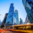 Traffic and office buildings in modern city — Stock Photo #70863201