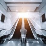 Escalator in underground tunnel — Stock Photo #71508911