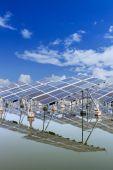 Solar panels outdoors — Stock Photo