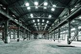 Empty floor in abandoned factory — Stock Photo