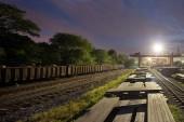 铁路的黄昏 — 图库照片