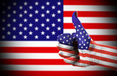 Thumb up for USA 2 — Stock Photo