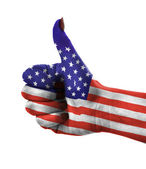 Thumb up for USA — Stock Photo