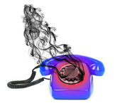 Concept of hot line — Stock Photo