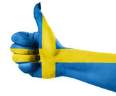 National flag of Sweden — Stock Photo